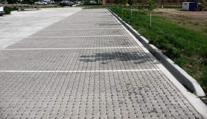 Impermeable paver parking lot