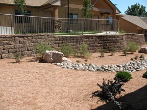 Ashwood concrete block retaining wall