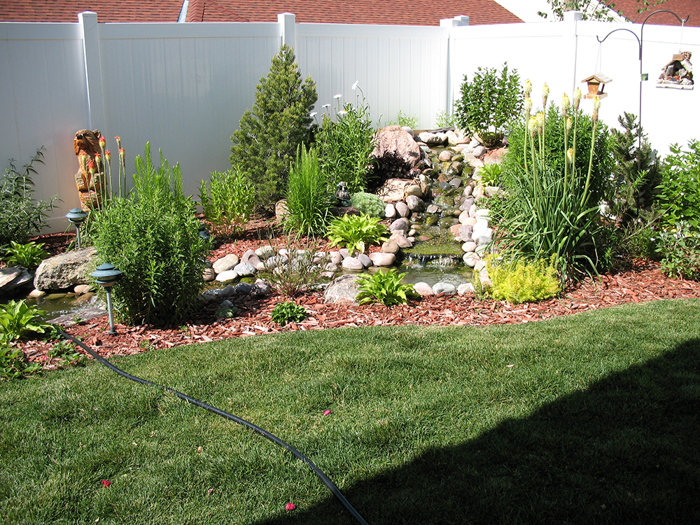 Landscape installation south side lawn and landscape for Landscape installation