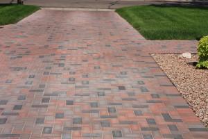 Concrete paver driveway