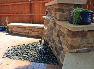 Pondless sheet waterfall