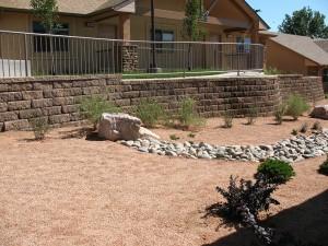 Ashwood concrete block retaining wall